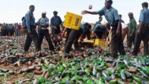 To tell how the Kano State Hisbah Board destroys alcoholic drinks in the name of religion